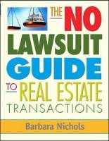 The No-Lawsuit Guide to Real Estate Transactions
