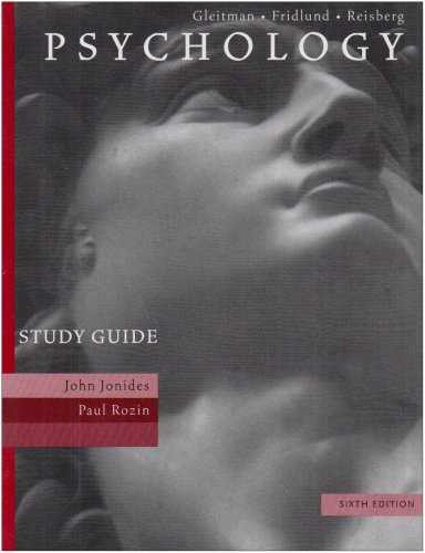 Study Guide to Accompany Psychology, Sixth Edition - Henry Gleitman; Alan Fridlund; Daniel Reisberg