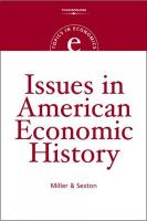 Issues in American Economic History