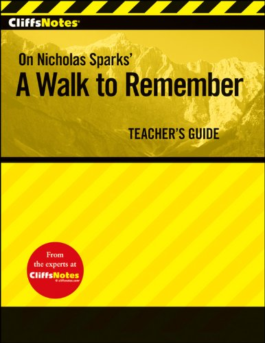 CliffsNotes A Walk to Remember Teacher's Guide (Cliff Notes) - CliffsNotes