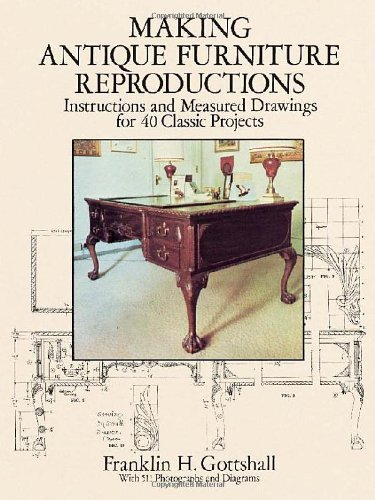 Reproducing  Antique Furniture: Instructions and Measured Drawings for 40 Classic Projects (Dover Woodworking) - Franklin H. Gottshall