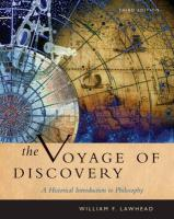 The Voyage of Discovery: A Historical Introduction to Philosophy