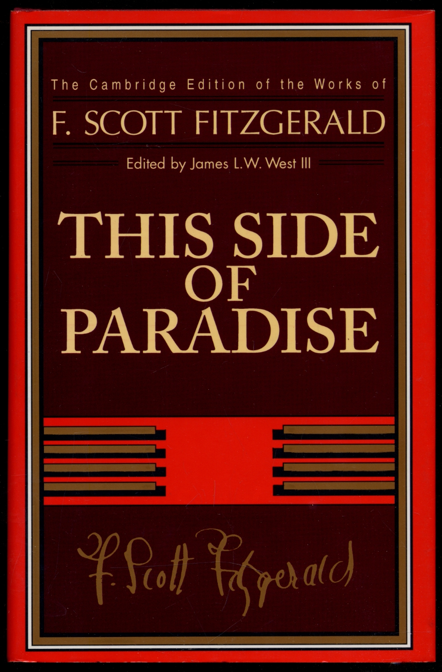 This Side of Paradise - FITZGERALD, F. Scott