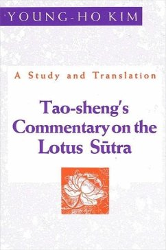 Tao-Shengs Comment Lotus: A Study and Translation