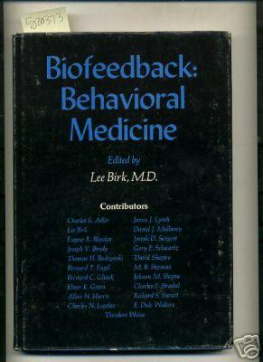 Biofeedback: behavioral medicine