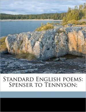 Standard English Poems: Spenser to Tennyson;