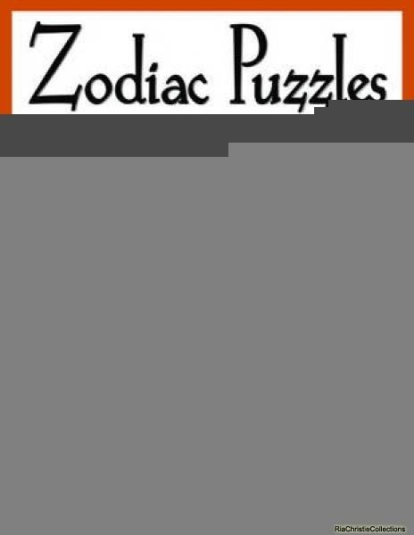 Zodiac Puzzles for Scroll Saw Woodworking - Judy Peterson, Dave Peterson