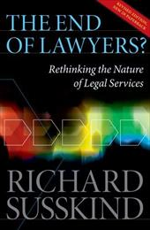 The End of Lawyers?: Rethinking the Nature of Legal Services - Susskind Obe, Richard