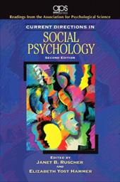Current Directions in Social Psychology - Ruscher, Janet B. / Hammer, Elizabeth Yost