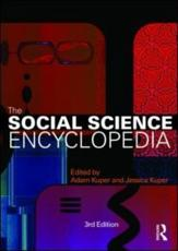 The Social Science Encyclopedia - Kuper, Adam (EDT)/ Kuper, Jessica (EDT)