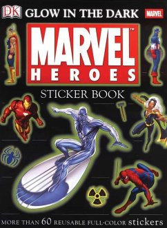 Glow in the Dark Marvel Heroes Sticker Book [With More Than 60 Reusable Full-Color Stickers] - Kelly, Neil