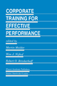 Corporate Training for Effective Performance - M. Mulder;  etc.