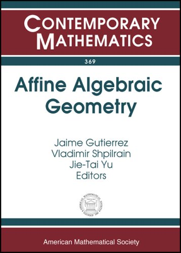 Affine Algebraic Geometry: Special Session on Affine Algebraic Geometry at the First Joint Ams-Rsme Meeting, Seville, Spain, June 18-21, 2003 (Contemporary Mathematics)