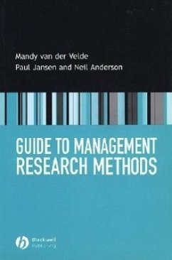 Guide to Management Research Methods - Van Der Velde, Mandy Jansen, Paul Anderson, Neil