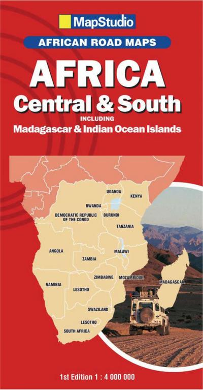 Africa Central & South incl. Madagascar 1 : 4:000 000 - MapStudio