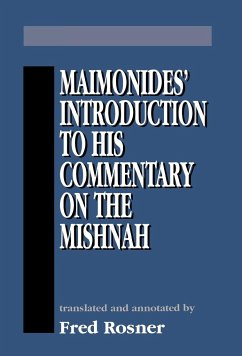 Maimonides Introduction to His - Rosner, Fred Maimonides, Moses