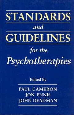 Standards & Guidelines for Psy - Herausgeber: Cameron, Paul M. Ennis, Jon Deadman, John C.
