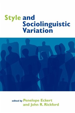 Style and Sociolinguistic Variation