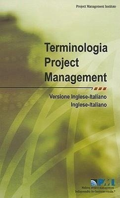 Terminologia del Project Management/Project Management Terminology - Herausgeber: Project Management Institute