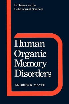 Human Organic Memory Disorders - Mayes, Andrew R.