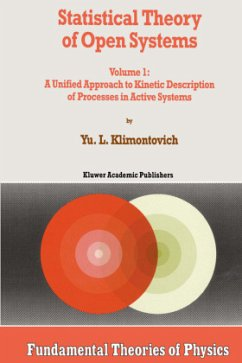 Statistical Theory of Open Systems - Klimontovich, Yu.L.