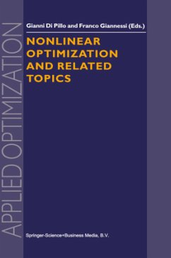 Nonlinear Optimization and Related Topics - Di Pillo