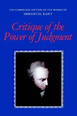 Critique of the Power of Judgment - Immanuel Kant