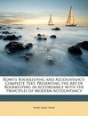 Rowe's Bookkeeping and Accountancy - Harry Marc Rowe