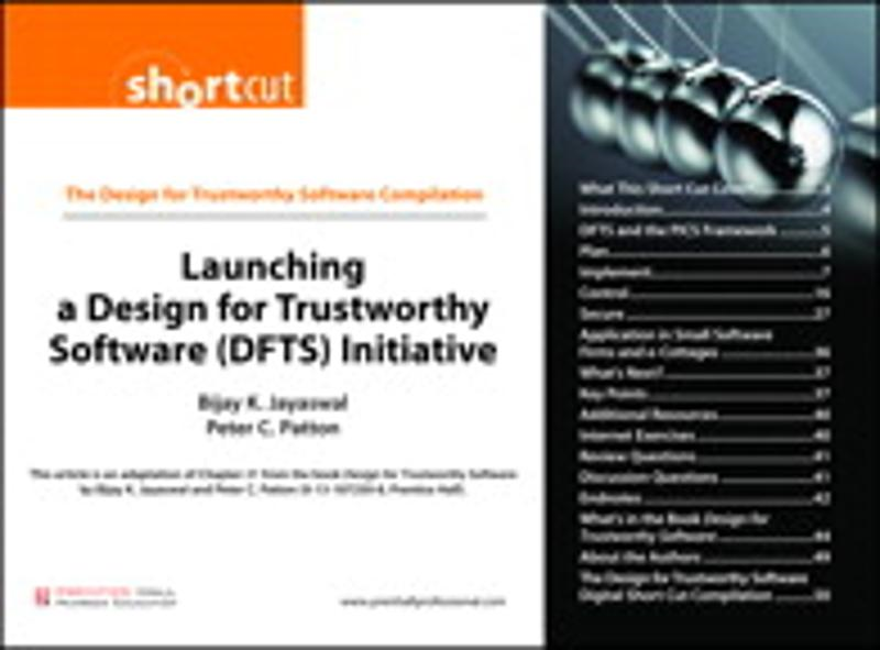 Launching a Design for Trustworthy Software (DFTS) Initiative (Digital Short Cut) - Prentice Hall