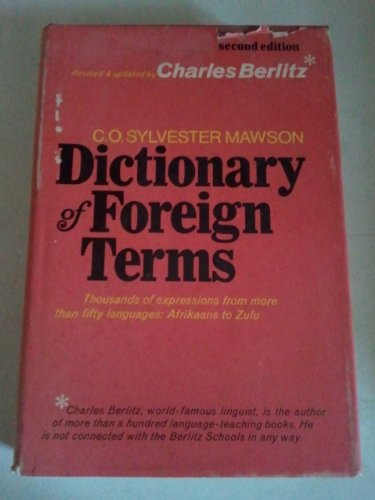 Dictionary of foreign terms - Christopher Orlando Sylvester Mawson