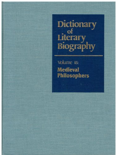 Dictionary of Literary Biography: Medieval Philosophers - Jeremiah Hackett