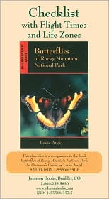 Checklist of the Butterflies of Rocky Mountain National Park: With Flight Times and Life Zones (Package of 5)