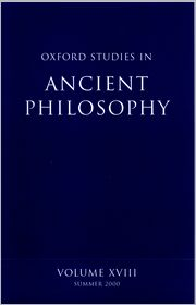 Oxford Studies in Ancient Philosophy - David N. Sedley (Editor)