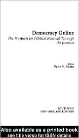Democracy Online - Edited by Peter Shane