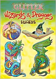 Glitter Wizards & Dragons Stickers - Marty Noble