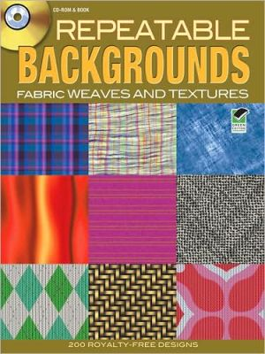 Repeatable Backgrounds: Fabric Weaves and Textures CD-ROM & Book - Alan Weller
