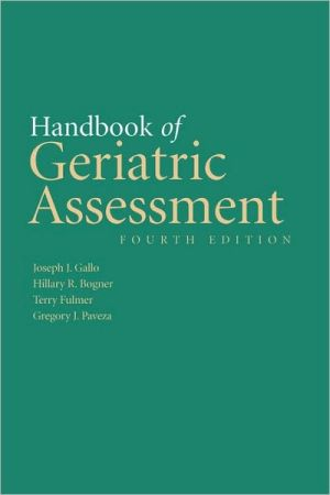 Handbook Of Geriatric Assessment - Gallo