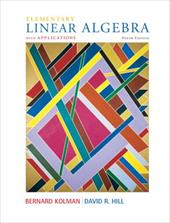 Elementary Linear Algebra with Applications - Kolman, Bernard / Hill, David