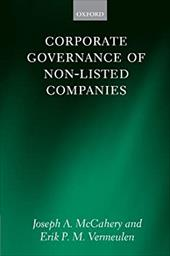 Corporate Governance of Non-Listed Companies - McCahery, Joseph A. / Vermeulen, Erik P. M.