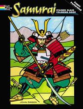 Samurai Stained Glass Coloring Book - Green, John