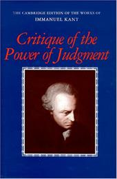 Critique of the Power of Judgment - Kant, Immanuel / Guyer, Paul