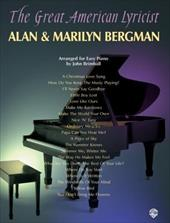 The Great American Lyricist -- Alan & Marilyn Bergman: Piano Arrangements - Bergman, Alan / Bergman, Marilyn