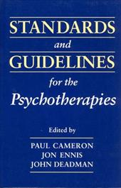 Standards & Guidelines for Psy - Cameron, Paul M. / Deadman, John C. / Ennis, Jon