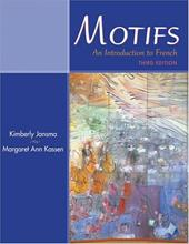 Motifs: An Introduction to French [With CD (Audio)] - Jansma, Kimberly / Kassen, Margaret Ann