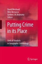 Putting Crime in Its Place: Units of Analysis in Geographic Criminology - Weisburd, David / Bernasco, Wim / Bruinsma, Gerben J. N.