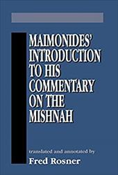 Maimonides Introduction to His - Rosner, Fred / Maimonides, Moses