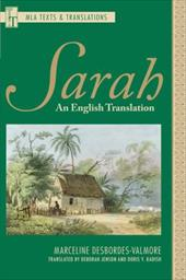 Sarah: An English Translation - Desbordes-Valmore, Marceline / Jenson, Deborah / Kadish, Doris Y.