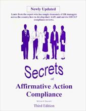 Secrets of Affirmative Action Compliance - Truesdell, William H.