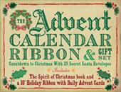 The Advent Calendar Ribbon & Gift Set: Countdown to Christmas with 25 Secret Santa Envelopes [With Daily Advent Cards and 10' Holi - Cider, Mill Press