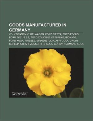 Goods Manufactured In Germany - Books Llc